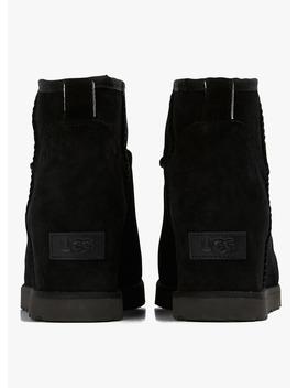Boots à Talons Compensés Intégrés En Cuir Noir by Ugg