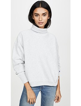 sleeve-logo-high-neck-sweatshirt by champion-premium-reverse-weave