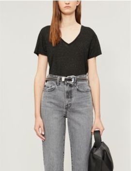 emelyn-shimmer-cotton-t-shirt by allsaints