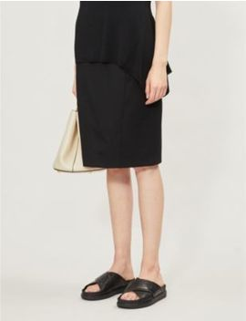 hartley-high-waist-wool-blend-pencil-skirt by reiss
