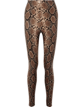 snake-effect-faux-stretch-leather-leggings by commando
