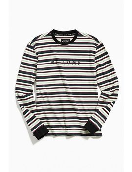 welcome-stripe-yarn-dyed-long-sleeve-tee by welcome