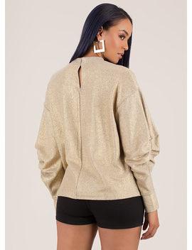 pick-up-metallic-puffy-sleeve-sweatshirt by gojane