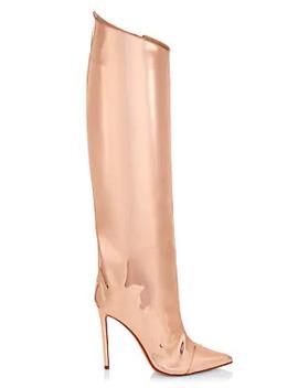 alex-mirror-metallic-tall-boots by alexandre-vauthier