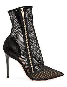 katniss-zip-up-mesh-ankle-boots by gianvito-rossi