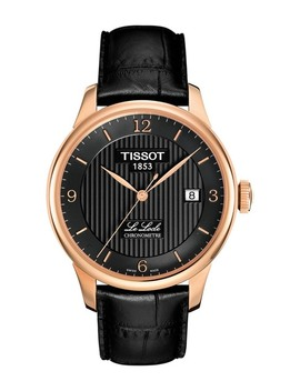mens-le-locle-automatic-leather-strap-watch,-39mm by tissot