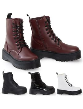 womens-hitop-platform-military-punk-biker-ankle-pu-leather-lace-up-vintage-boots by ebay-seller