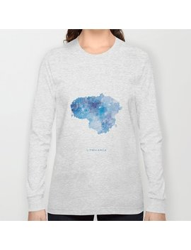 lithuania-long-sleeve-t-shirt by society6