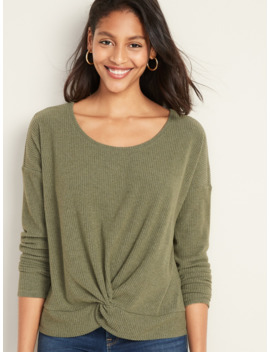 relaxed-twist-front-rib-knit-top-for-women by old-navy