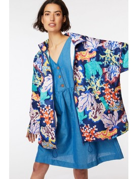 Floral Coral Raincoat by Gorman