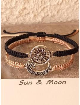couples-bracelet,-moon-and-sun-bracelet,-love-bracelet,-set-of-2-bracelets,-his-and-hers-bracelets,-husband-wife-bracelets,-couples-gift by etsy