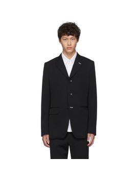black-wool-gabardine-blazer by comme-des-garçons-homme-deux