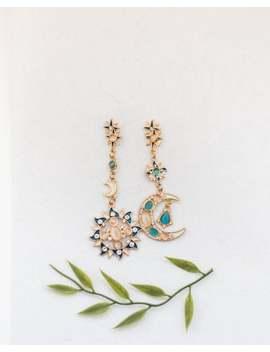 moon-and-sun-earrings,-moon-and-sun-drop-earrings,-celestial-earrings,-celestial,-moon,-sun,-earrings,-statement-earrings,-funky-earrings by etsy