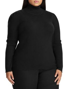 plus-ribbed-cotton-blend-sweater by lauren-ralph-lauren