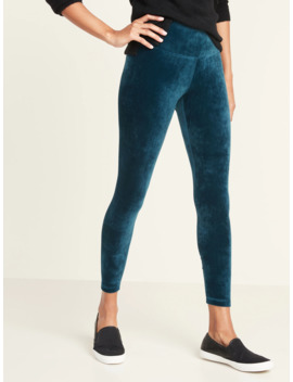 high-rise-7_8-length-velvet-leggings-for-women by old-navy