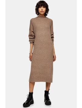 mink-knitted-longline-dress-with-wool by topshop