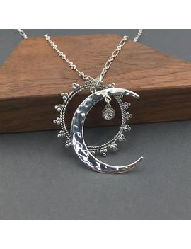 celestial-jewelry-sun-and-moon-necklace- -sterling-silver-moon-jewelry,-moon-star-necklace by etsy