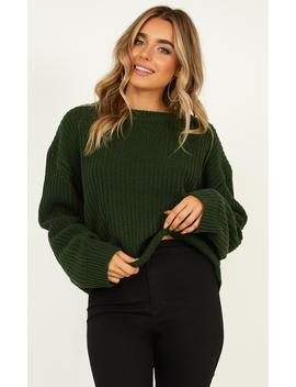 fleeting-moments-knit-jumper-in-forest-green by showpo-fashion