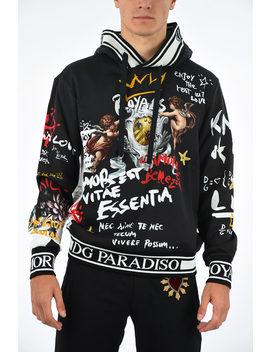 dg-paradiso-printed-sweatshirt by dolce-&-gabbana