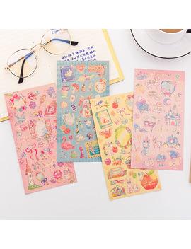 alice-princess-flower-gilding-bullet-journal-sticker-scrapbook-decoration-pvc-stationery-diy-stickers-school-office-supply by aliexpresscom