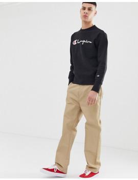 champion-–-schwarzes-sweatshirt-mit-großem-logo by asos