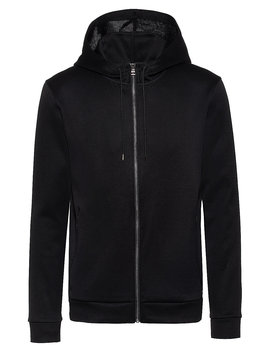 zip-through-hooded-sweatshirt-with-faux-leather-piping by boss