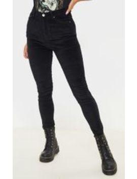 black-velvet-skinny-jeans- by prettylittlething