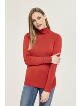 Polo Neck Sweater by Long Tall Sally