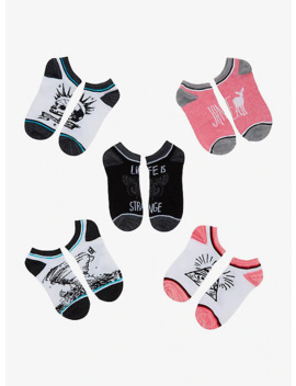 Life Is Strange No Show Socks 5 Pair by Hot Topic