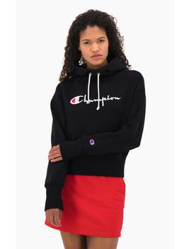 script-logo-high-rib-reverse-weave-hoodie by champion