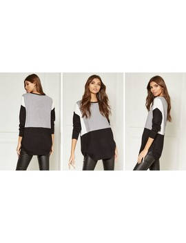 grey-block-colour-jumper by bella-and-blue