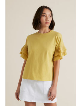 Pleat Sleeve Top by Seed Heritage