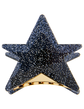 Resin Glitter Star Bulldog Clip by Accessorize