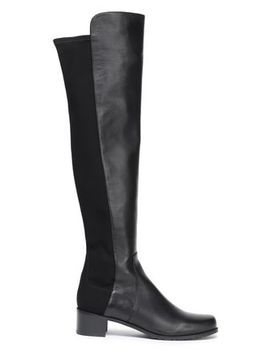 jersey-paneled-leather-over-the-knee-boots by stuart-weitzman