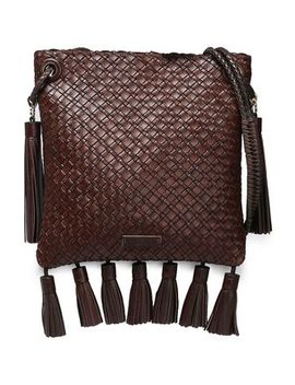 tasseled-woven-leather-shoulder-bag by michael-michael-kors