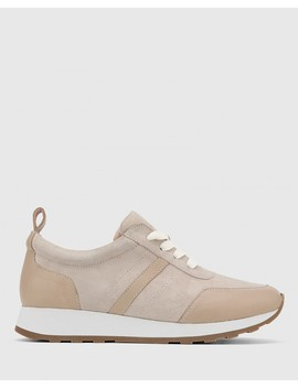edun-light-oyster-suede-leather-lace-up-sneaker by wittner