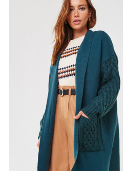 combo-open-front-cardigan by forever-21