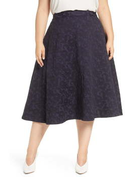 halogen(r)-jacquard-circle-skirt-(plus-size) by halogen