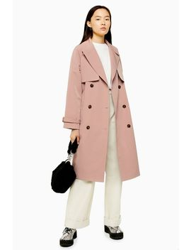pink-stitch-trench-coat by topshop
