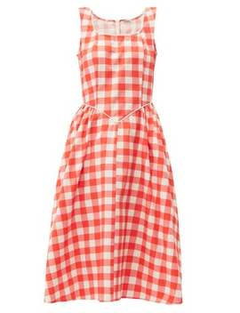 gingham-print-cotton-midi-dress by batsheva