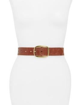 embossed-jean-leather-belt by treasure-&-bond