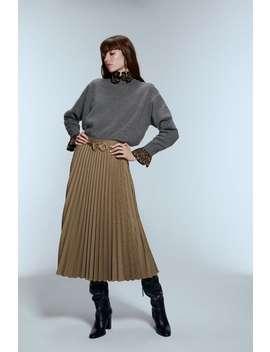 plisowana-spódnica-w-kratę by zara
