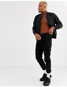 topman-bomber-jacket-in-black by topman