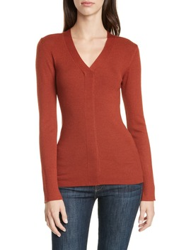 v-neck-rib-sweater by lewit