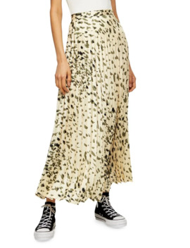animal-print-pleated-maxi-skirt-by-boutique by topshop