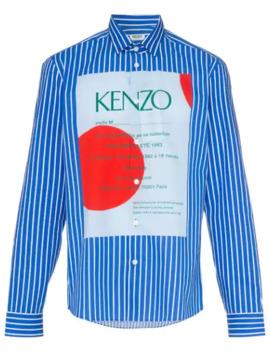 striped-logo-print-shirt by kenzo