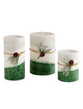 layered-pillar-candles by holiday-forest-collection