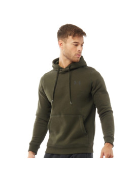 Under Armour Mens Rival Fitted Hoodie Green by Under Armour