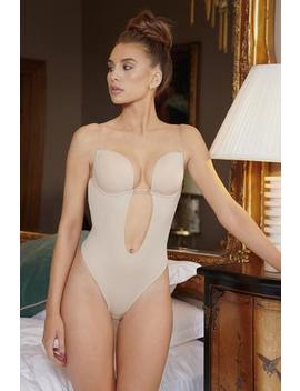 Nude Ultimate Plunge Backless Bodysuit by Nakey Nakey