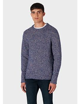 mens-blue-oversized-wool-blend-twisted-yarn-sweater by paul-smith